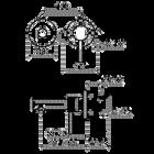 Kiruna inbouw wastafelkraan | aged copper