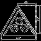Hoekstopcontact   Zwart
